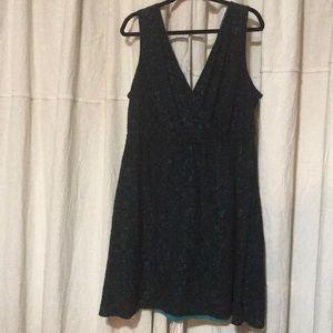 Lane Bryant Black Lace w/ Teal Dress